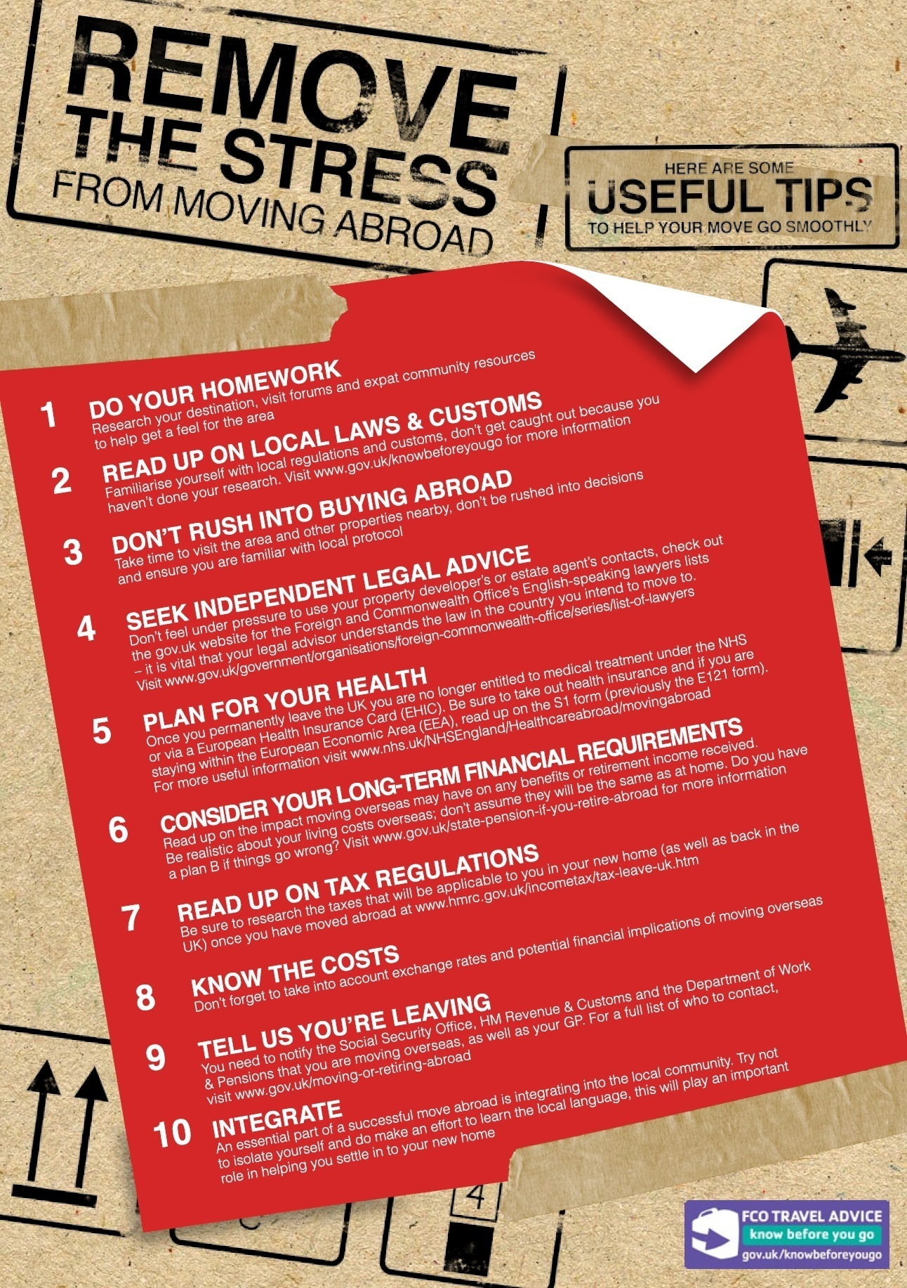 moving abroad top 10 tips