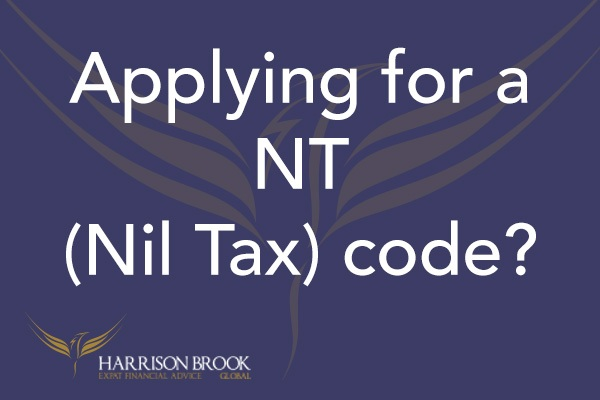 How to apply for your NT (Nil Tax) code? - Harrison Brook